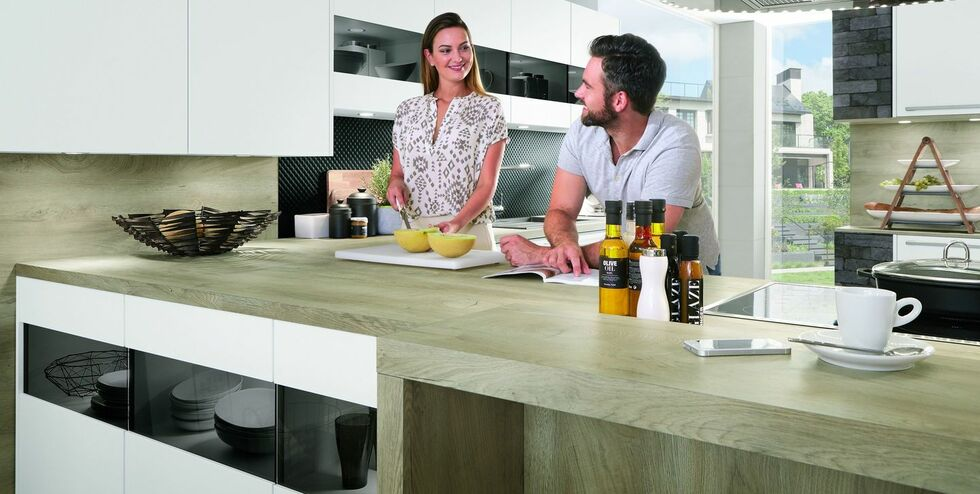 Küchenarbeitsplatte in Holz-Optik: klassisch, modern oder Landhausstil | {Küchenarbeitsplatte holzoptik 21}